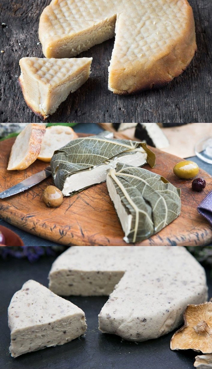 Miyoko's Creamery Non-Dairy Artisan Cultured Nut Cheeses - several varieties; all vegan, gluten-free and soy-free