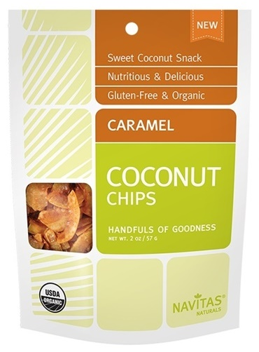 Navitas Naturals Coconut Chips - Three dairy-free flavors (Caramel, Cacao, Chili Lime) - all vegan, gluten-free, indulgent and wholesome!