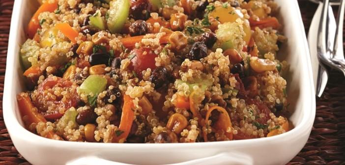Southwest Quinoa Salad with Cilantro-Lime Dressing