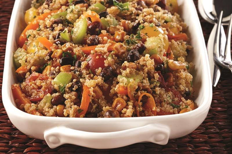 Southwestern Bean & Quinoa Salad With Cilantro-Lime Dressing