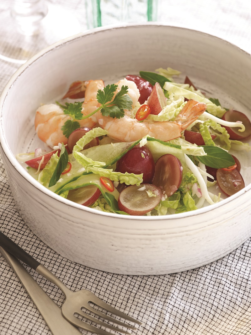 Healthy Thai Shrimp Salad (Fast and Fresh!) - packed with nutritious produce, this easy recipe is naturally dairy-free, gluten-free and even nut-fee with a paleo option!