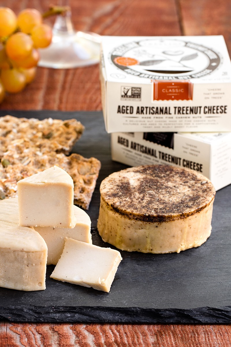 Treeline Aged Artisanal Nut Cheese Review and Information. Dairy-free and vegan hard cheese wheels that you can grate and slice!