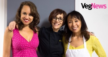 VegNews Magazine Returns! The Founder Colleen Holland Celebrates by Showcasing Top Vegan Chefs, Fran Costigan and Miyoko Schinner