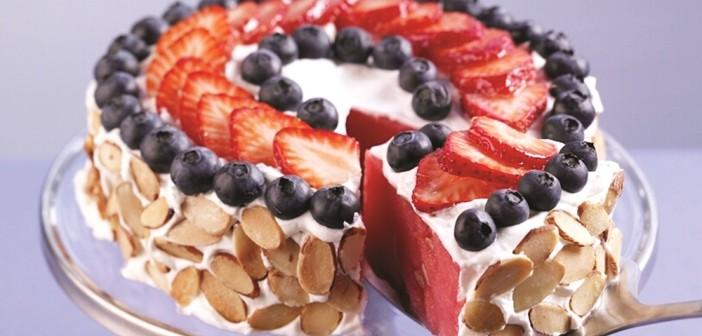 Fresh & Fruity Watermelon Cake (Sweet, Superfast, Healthy!)