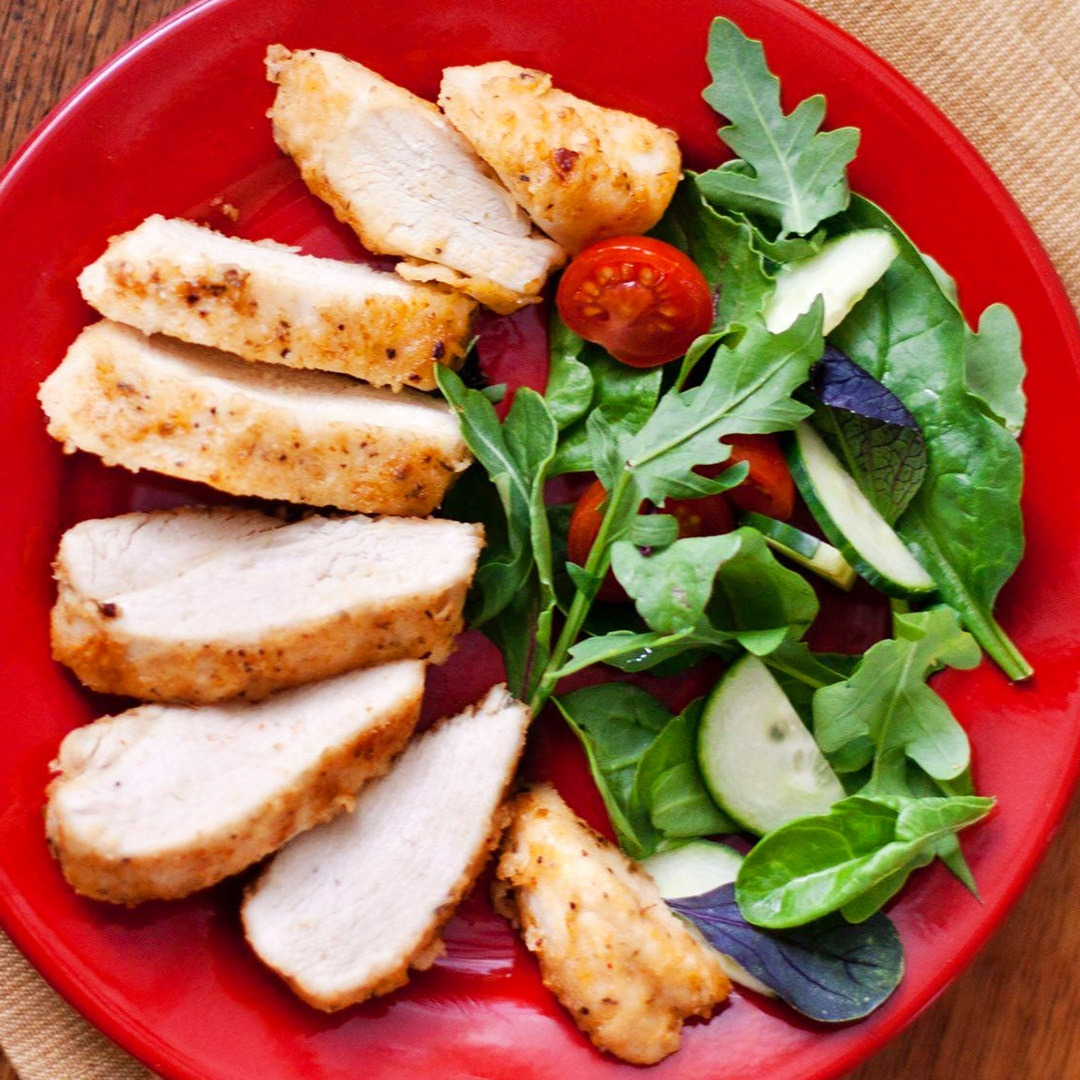 Easy Oven-Fried Chicken Recipe (Boneless, Skinless