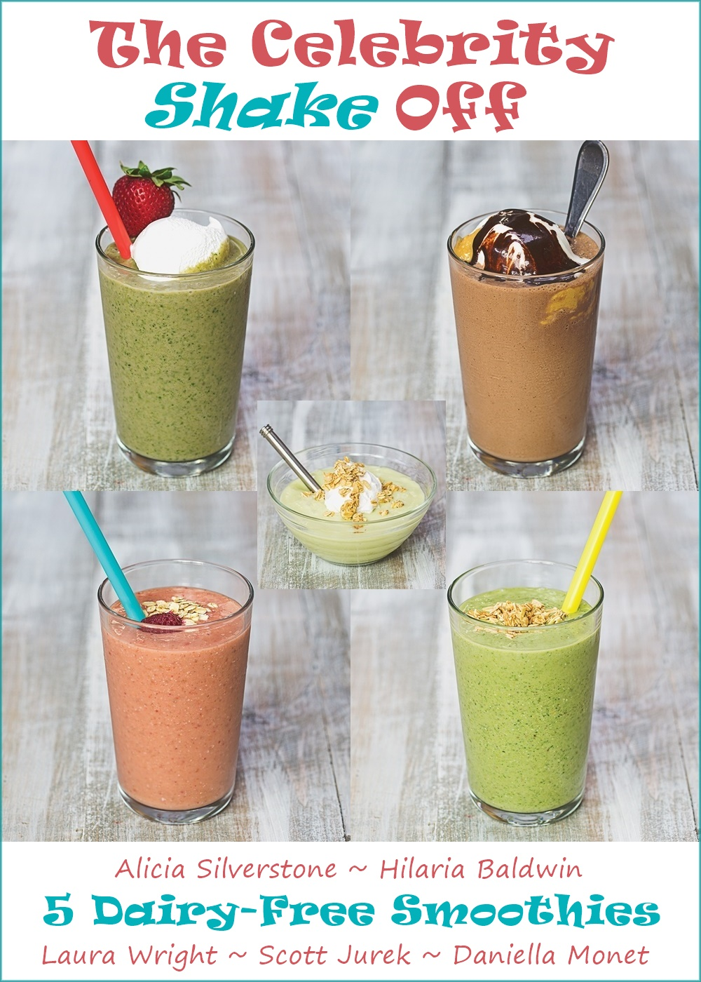 5 Celebrity Smoothie Recipes, straight  from Their Kitchens to Yours! Plus every last sip is dairy-free, gluten-free and vegan!