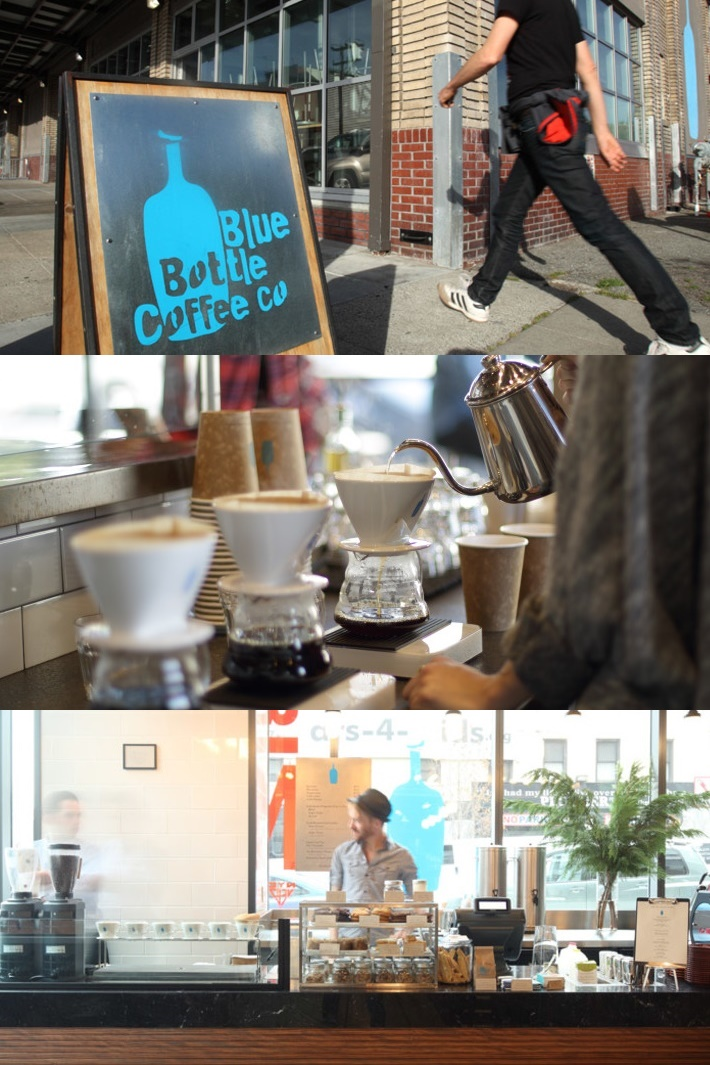 Blue Bottle Coffee Pours Almond and Soy Milk at Select Locations for Dairy-Free and Vegan Hot and Iced Coffee Beverages.
