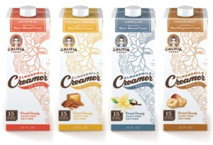 Califia Farms AlmondMilk Creamer for Coffee and Tea - Dairy-Free, Gluten-Free, Soy-Free, Vegan (available in four flavors: Original, Vanilla, Hazelnut and Pecan Caramel)