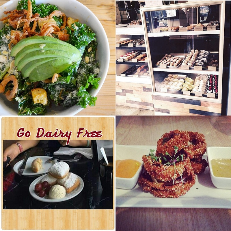 Top Restaurant Recommendations for Dairy-Free Living (around North America) - winners from the #DairyFreeLife Instagram Contest