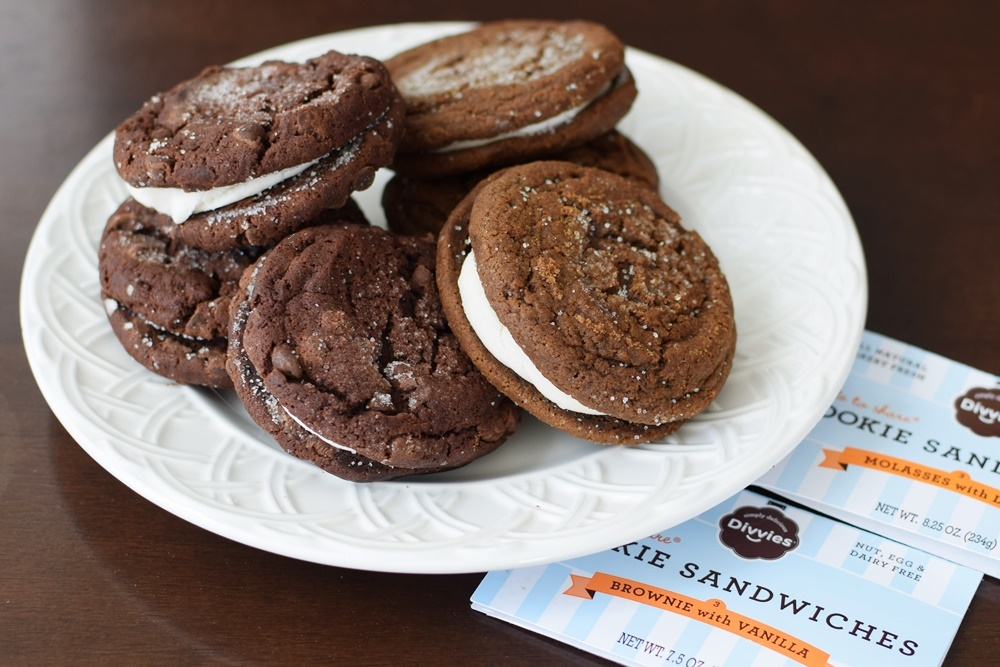 Divvies Cookie Sandwiches - Bakery Fresh and Made in a Dairy-Free, Egg-Free, Nut-Free Facility
