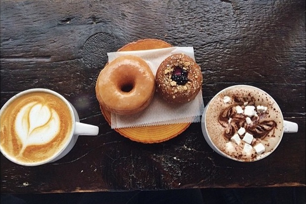Dun-well Doughnuts in Brooklyn, NY is the only place for artisan vegan doughnuts. Over 200 flavors, plus dairy-free coffee drinks, ice cream and more.