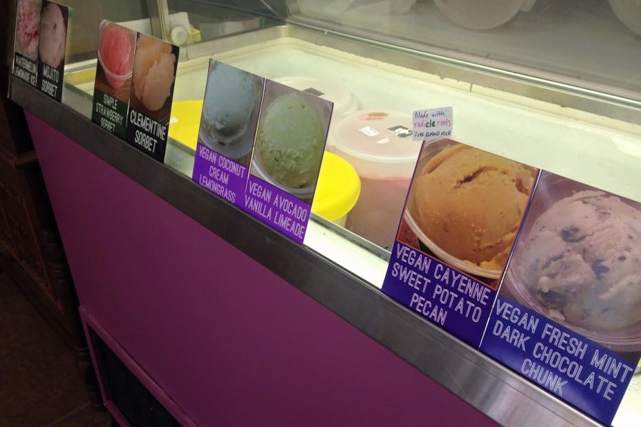 Ice Cream Joy in Lakewood, OH offers numerous Creamy Dairy-Free and Vegan Ice Cream Flavors (as well as Artisan Sorbets!)