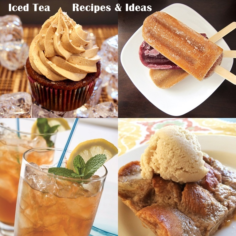Recipes & Ideas Using Iced Tea! All dairy-free, vegan, sweet delights.