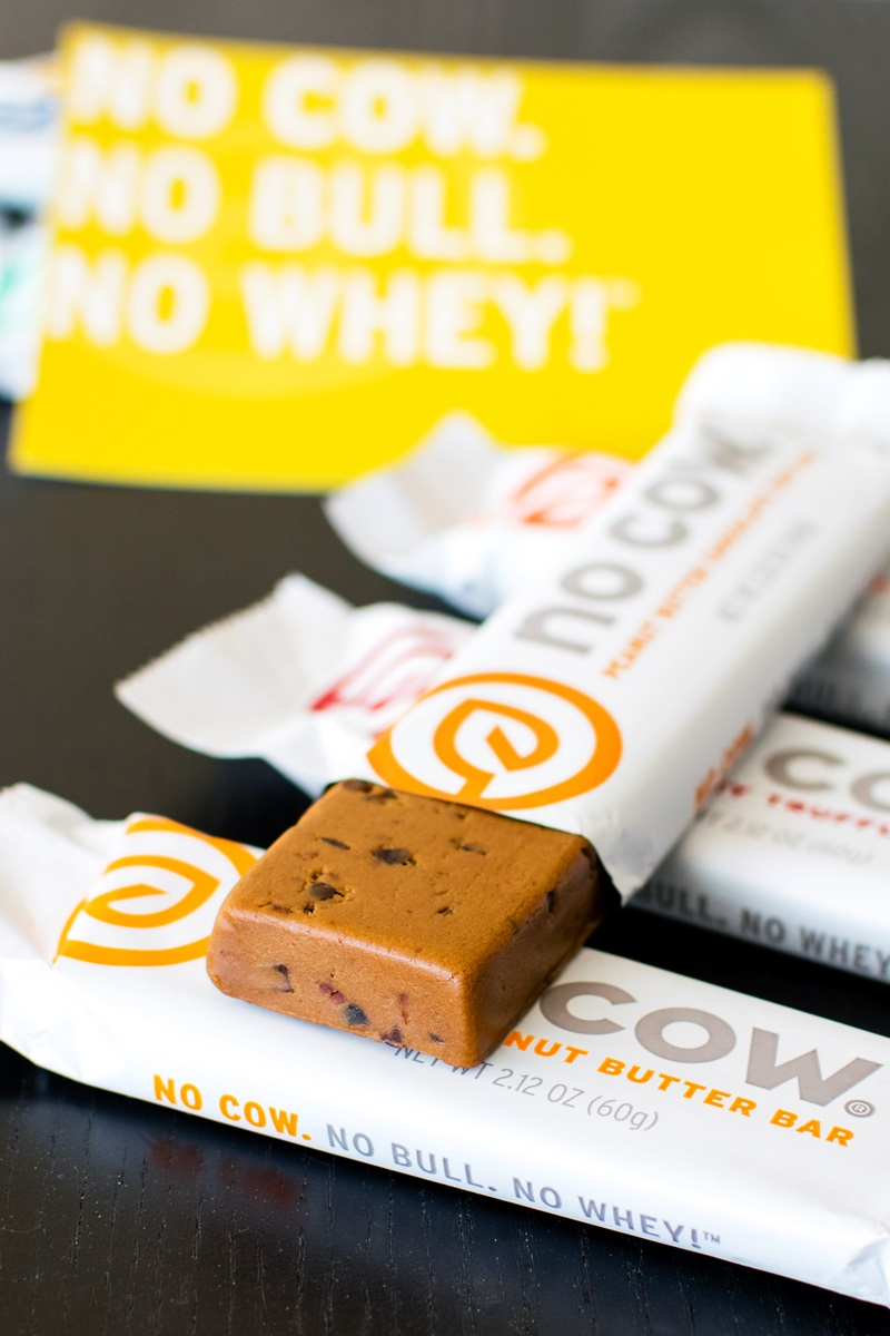 No Cow Bars - High Protein, Low Sugar, Low Glycemic, Dairy-Free, Gluten-Free, Soy-Free and Vegan