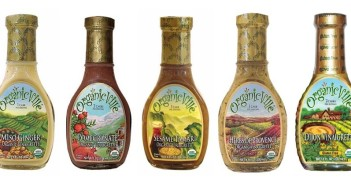 Organicville Vinaigrettes - Certified Organic, Gluten-Free and Vegan - these flavorful dairy-free dressings are amazingly low carb, low sugar, with a perfectly balanced consistency that is neither oily or watery.