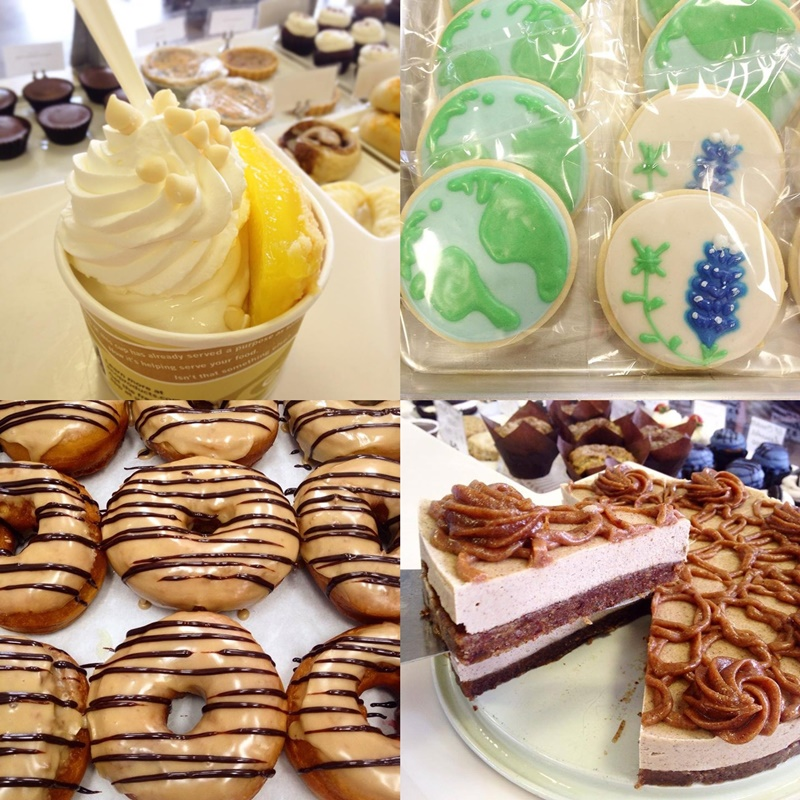Reverie Bakeshop in Richardson, TX is an amazing all-vegan bakery with indulgent menus (including gluten-free and raw options) and even dairy-free soft serve.