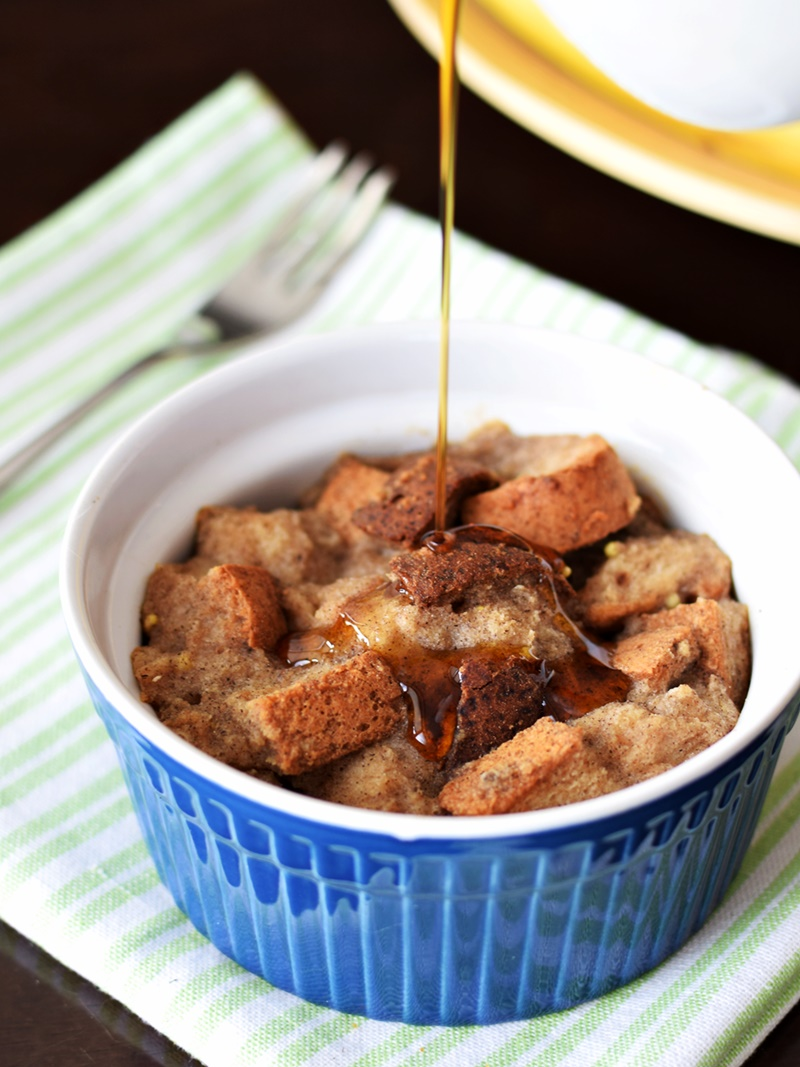 Mini Vegan Maple French Toast Casseroles - Tested gluten-free (pictured) and with wheat bread - both versions are scrumptious and so easy!