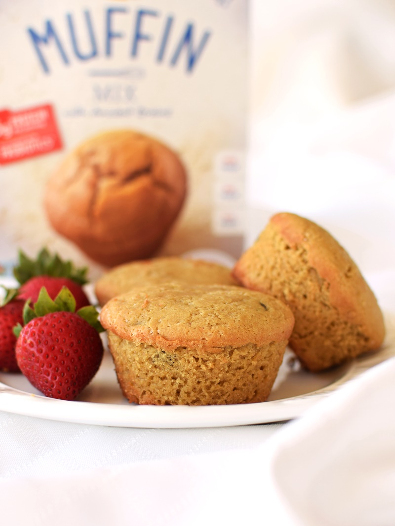 Enjoy Life Baking Mixes (Muffin Mix Pictured) - Vegan, Gluten-Free, Top Allergen-Free and they contain 5 grams of protein per serving + heat-stable probiotics!
