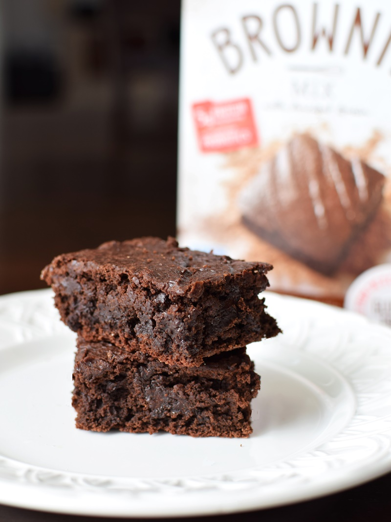 Enjoy Life Baking Mixes with Ancient Grains (gluten-free, dairy-fee, top allergen-free & vegan!) - Brownie Mix Pictured - bakes up with the perfect textural mix of fudgy and cakey!