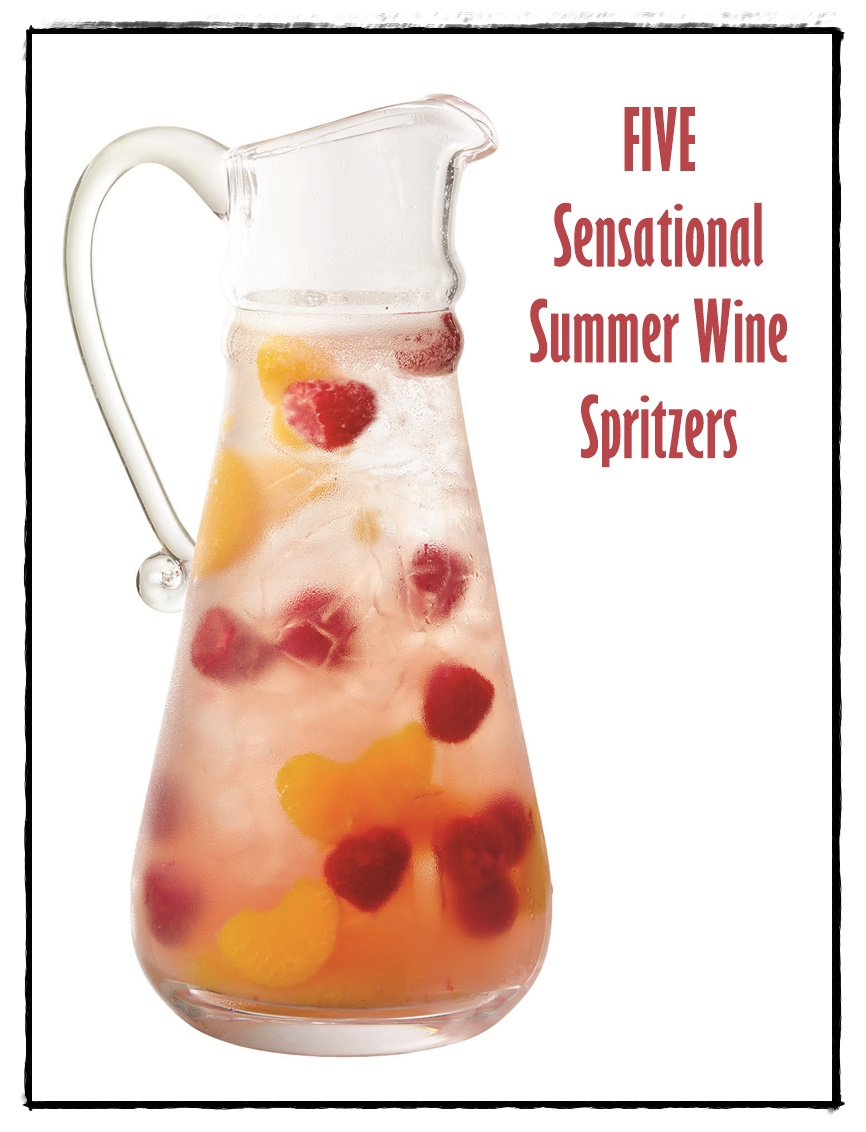 Sensational Summer Wine Spritzers - 5 Recipes! (Melon Mint-jito, Summer Lovin', Refreshing Red Sangria, Perfectly Pink Punch and Sangria Spritz)