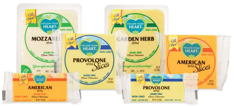 Follow Your Heart Cheese Alternative: New Slices & Blocks (a full review of this ALL NEW vegan, dairy-free, gluten-free, soy-free & nut-free cheese (no, it's not Vegan Gourmet!)) 4 Flavors: Cheddar, Mozzarella, Provolone & Garden Herb