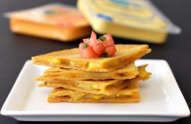 Vegan Corn Quesadillas with Follow Your Heart Cheese Alternative (a full review of this ALL NEW vegan, dairy-free, gluten-free, soy-free & nut-free cheese (no, it's not Vegan Gourmet!) - 4 flavors: Cheddar, Mozzarella, Provolone & Garden Herb