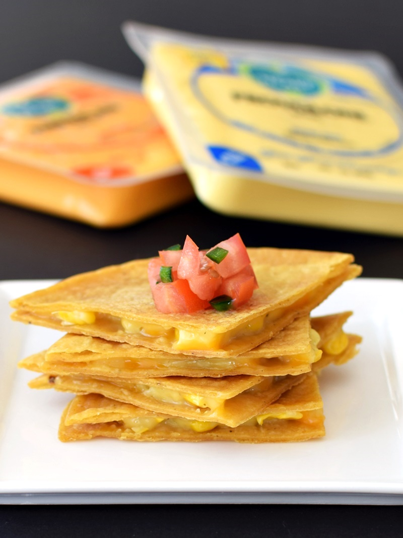 Vegan Corn Quesadillas with Follow Your Heart Cheese Alternative (a full review of this ALL NEW vegan, dairy-free, gluten-free, soy-free & nut-free cheese (no, it's not Vegan Gourmet!)