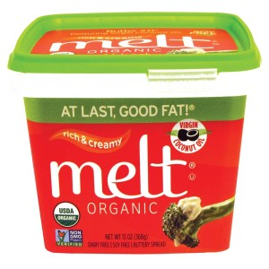 Melt Organic Buttery Spread - a soy-free, non-GMO dairy-free butter in three flavors.