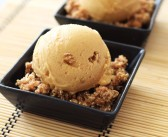 Peach Crisp Ice Cream (Dairy-Free; Paleo Option)