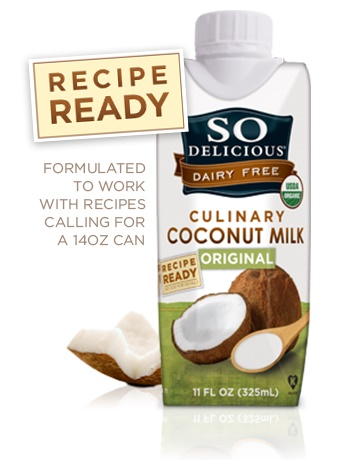 "So Delicious Culinary Coconut Milk - My new holy grail for dairy-free ""canned"" coconut milk. It's like straight up cream! #sp"