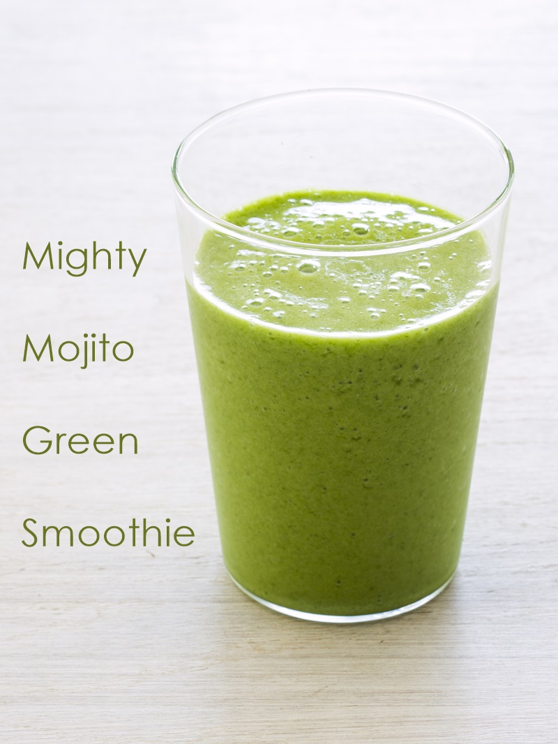 A Mighty Mojito Green Smoothie Recipe from The Blender Girl Smoothies Cookbook