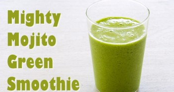 Mighty Mojito Green Smoothie Recipe from The Blender Girl Smoothies - amazing vegan, detox beverage!