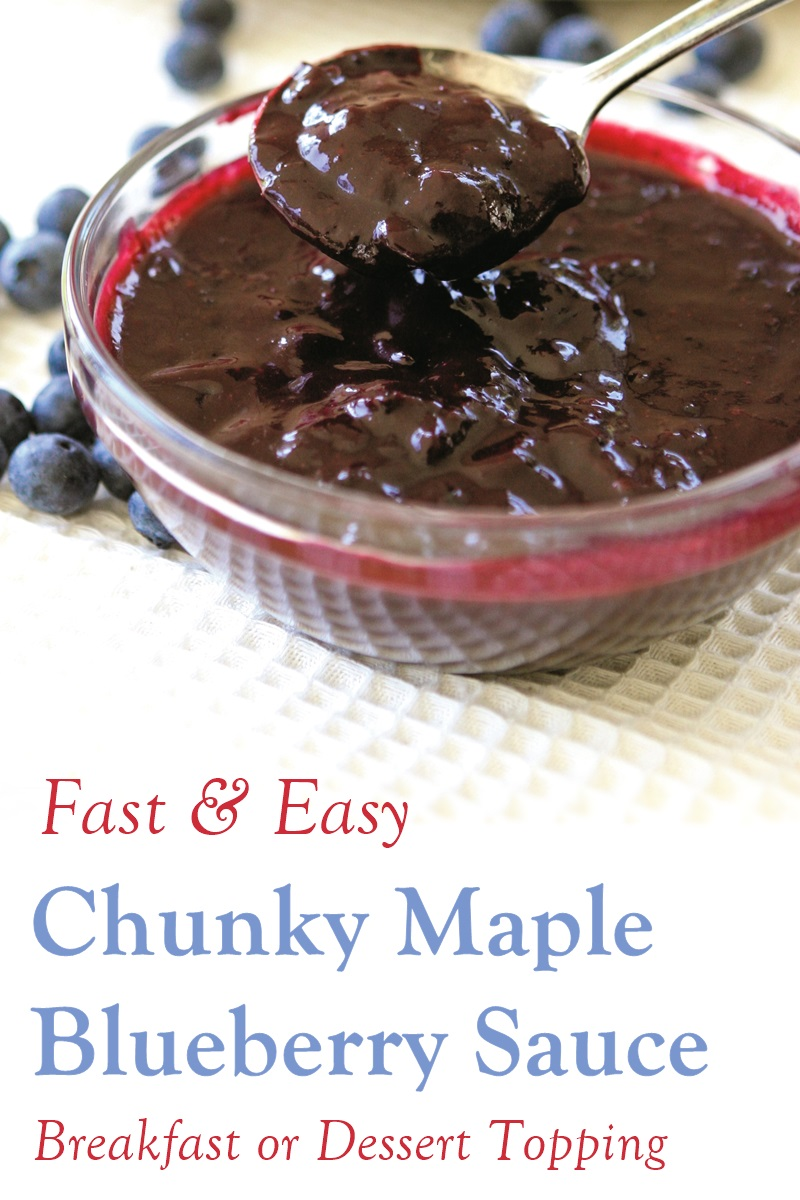 Chunky Maple Blueberry Sauce Recipe - a super-versatile, fast & easy sweet topper. Naturally vegan, dairy-free, gluten-free, allergy-friendly, and optionally paleo.