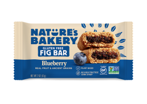 Nature's Bakery Gluten-Free Fig Bars Reviews and Info - Dairy-free, gluten-free, vegan, nut-free, soy-free, 4 fruit flavors. Pictured: Blueberry