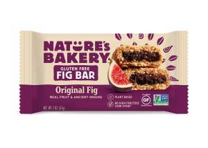 Nature's Bakery Gluten-Free Fig Bars Reviews and Info - Dairy-free, gluten-free, vegan, nut-free, soy-free, 4 fruit flavors. Pictured: Original Fig