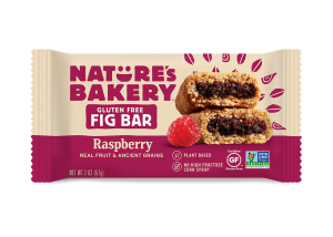 Nature's Bakery Gluten-Free Fig Bars Reviews and Info - Dairy-free, gluten-free, vegan, nut-free, soy-free, 4 fruit flavors. Pictured: Raspberry