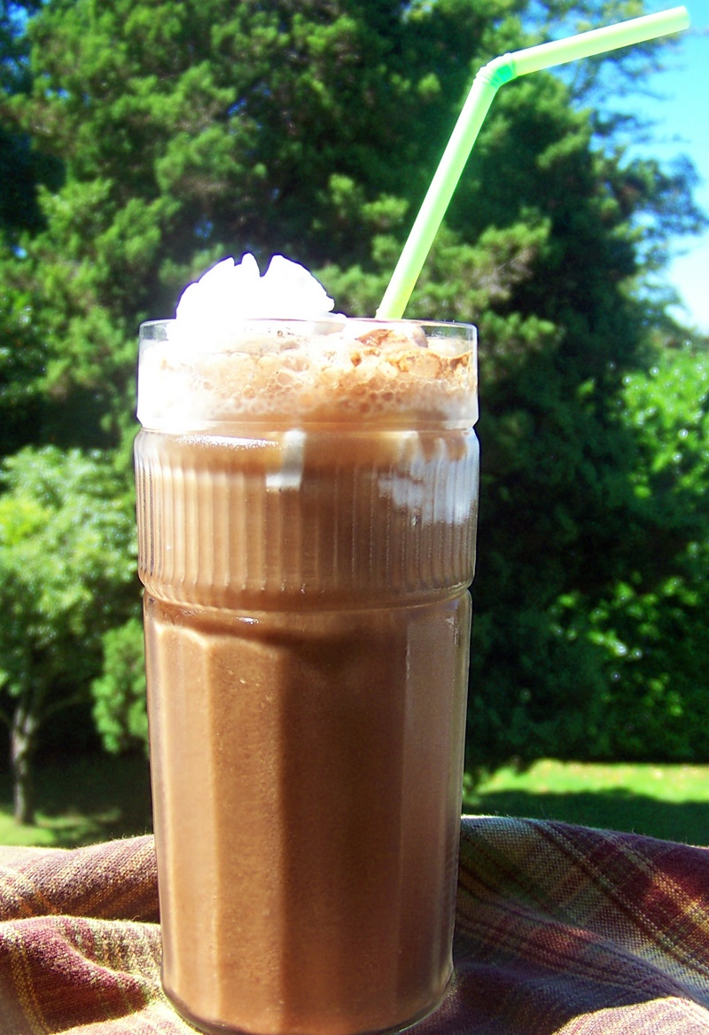 Chocolate Coconut Macaroon Float Recipe - a cool, creamy dairy-free and vegan frozen dessert delight!