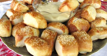 Bavarian Pretzel Bites with Honey Mustard Dip