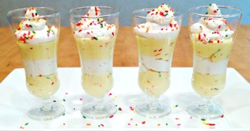 Cake Batter Pudding Parfaits