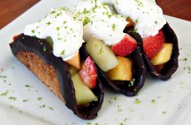 Coconut Fresh Fruit Taco Thins with Lime CocoWhip