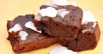 Fudgy Black Bean Coconut Cherry Brownies