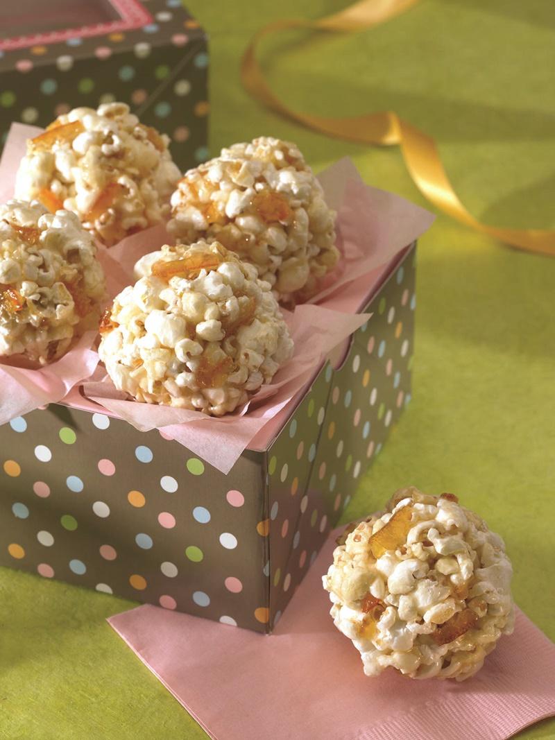 Sweet Marmalade Popcorn Balls Recipe (naturally vegan, gluten-free, nut-free, allergy-friendly)