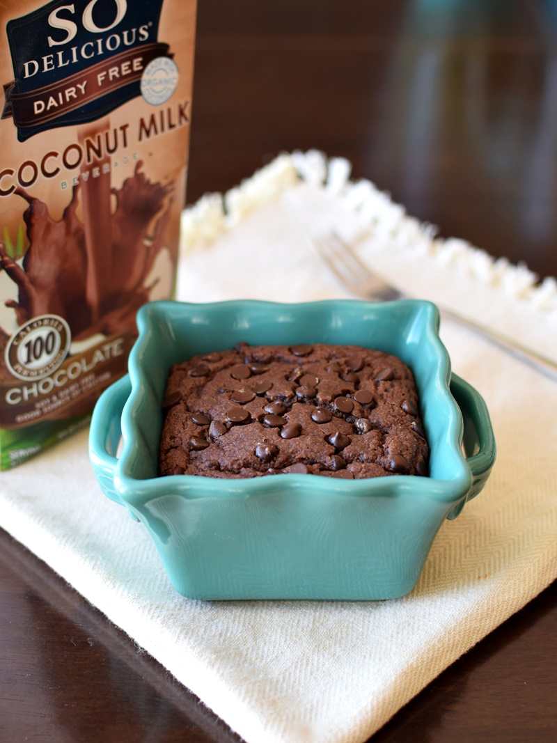 Jumbo Triple Chocolate Mug Muffin (5 Minute Recipe!) - This super easy (yes, even kids can make it!), healthy muffin recipe literally takes 5 minutes from stirring to eating. It's also naturally dairy-free, vegan, and I make it gluten-free, too, but there is a wheat option.