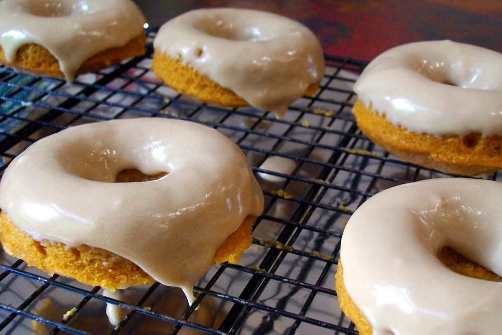 Maple Glazed Pumpkin Donuts