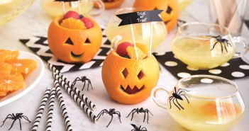 Cast a Sweet Spell with Bubbling Witches Brew and Spook-tacular Fruit Cups - Easy, homemade, healthy, kid-friendly recipes!