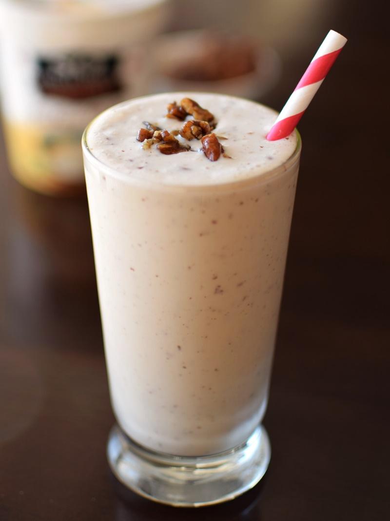Maple-Butter Pecan Milkshake Recipe (Dairy-Free!)