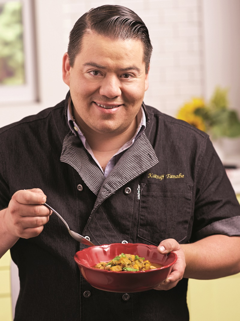 "Warm Autumn Turkey Stew Recipe by Food Network's ""Chopped"" champion Chef Katsuji Tanabe - naturally dairy-free, gluten-free and top allergen-free & can even be vegan with leftover Tofurkey!"