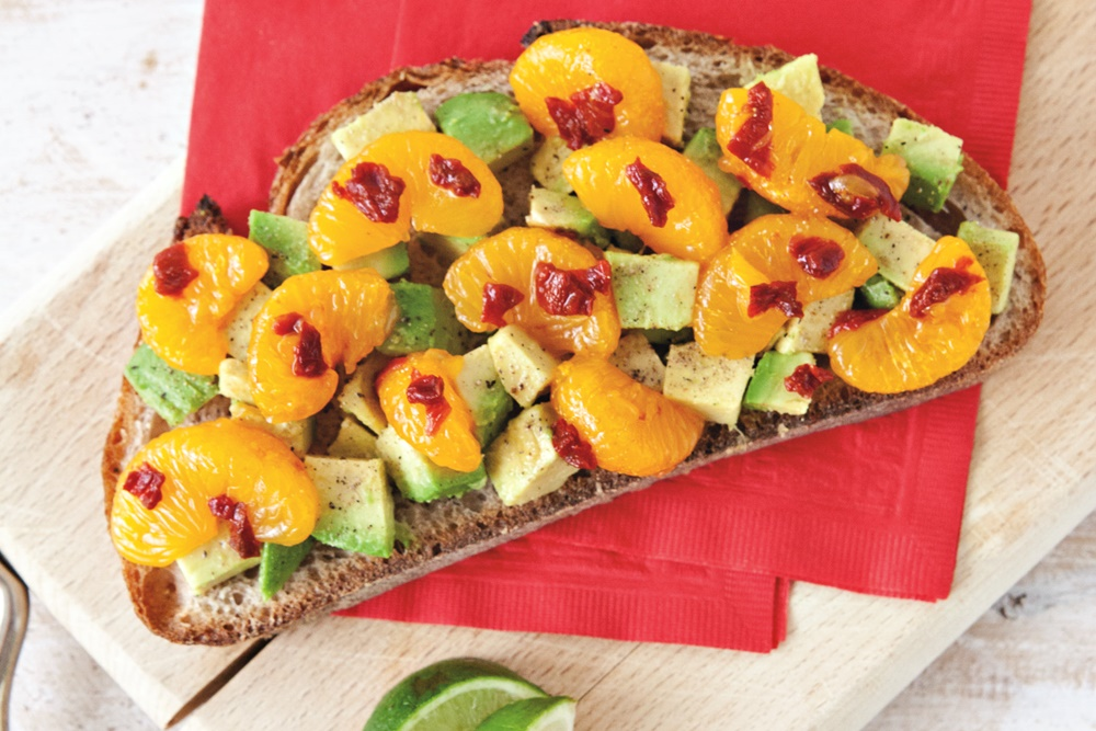 Orange-Chipotle Avocado Toast