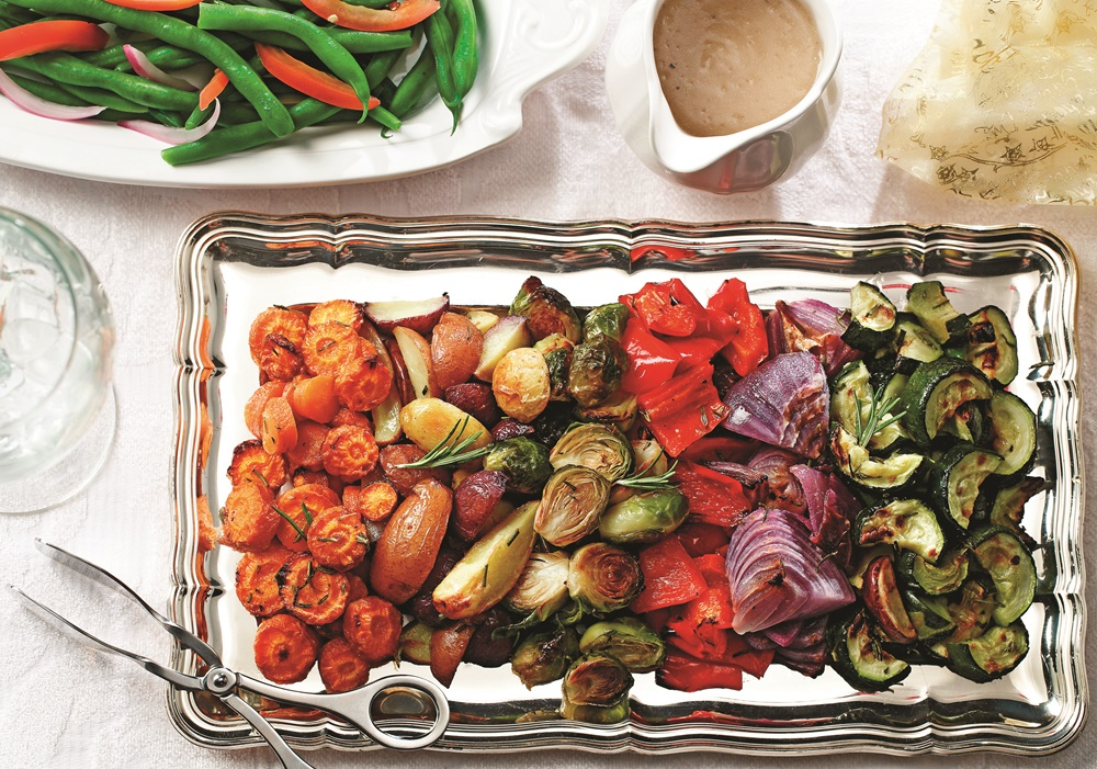 Roasted Winter Veggies and Tri-Color Potatoes