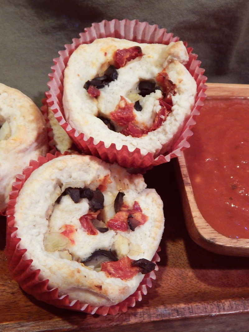 These fun, flavorful Mediterranean Biscuits take just 30 minutes to make & bake! Wholesome, vegan, dairy-free recipe.